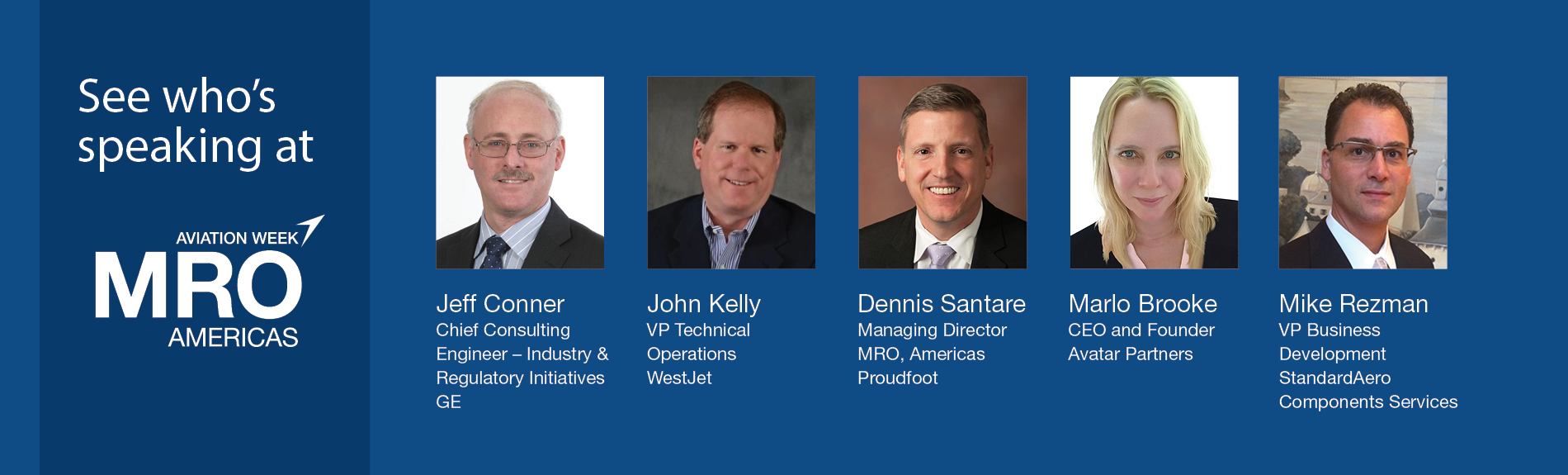 See who's speaking at MRO Americas