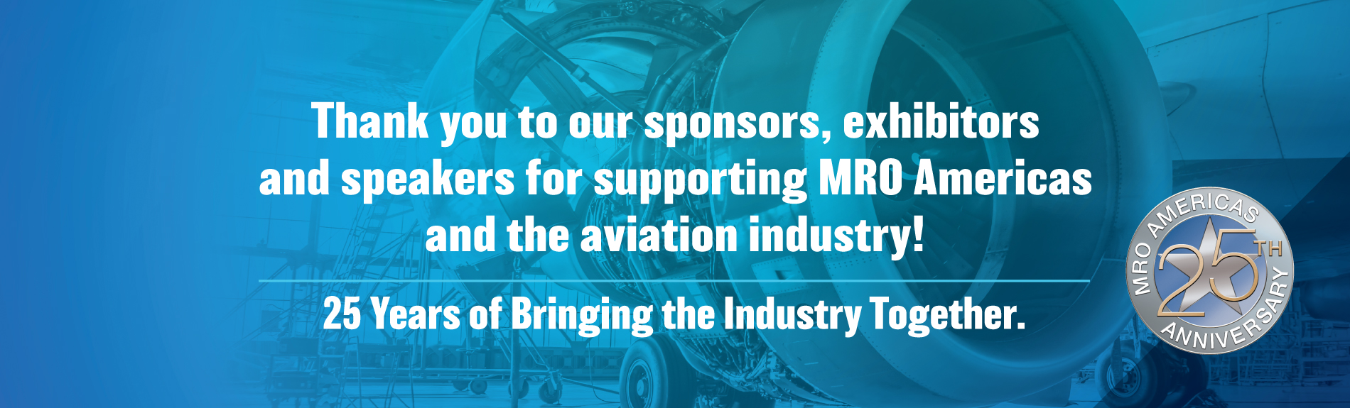 Thank you to our sponsors and exhibtors for supporting the industry
